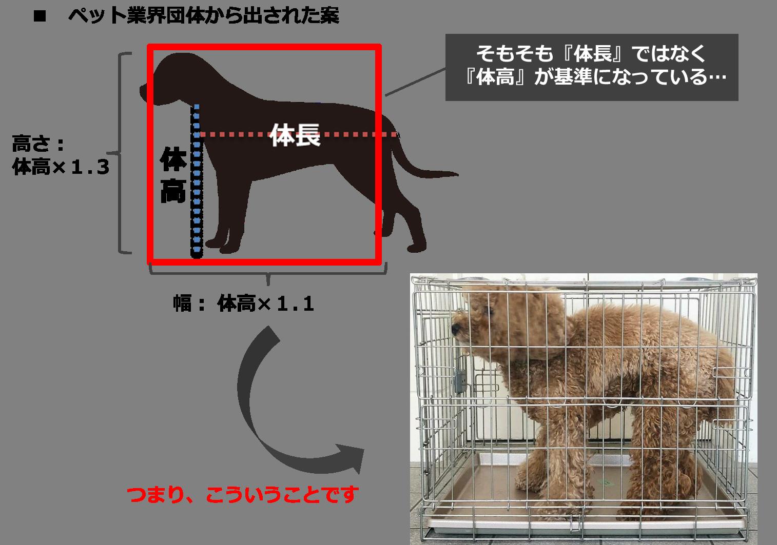 ペット協会(石山)の数値規制の提案内容