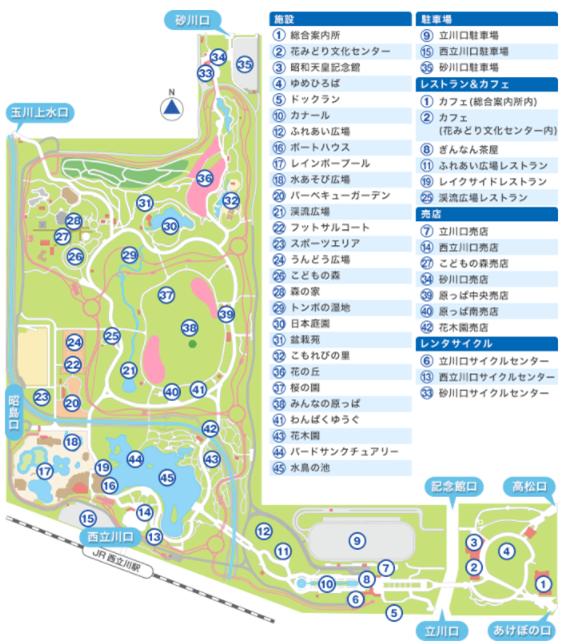 昭和記念公園施設