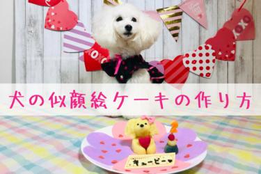 【 超簡単な手作りレシピ 】犬の似顔絵ケーキの作り方