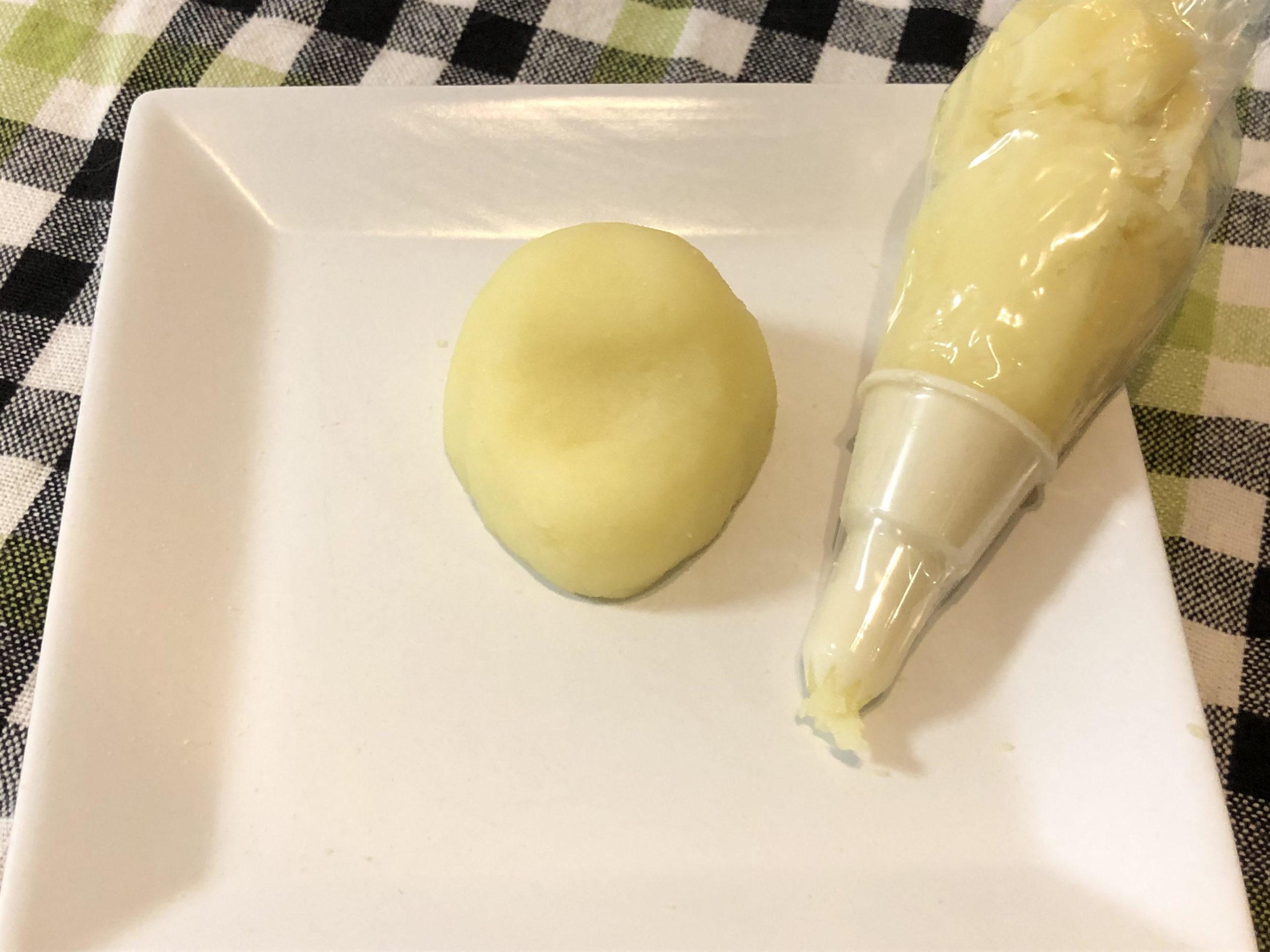 犬用似顔絵ケーキのレシピ、作り方、ジャガイモ、サツマイモ、